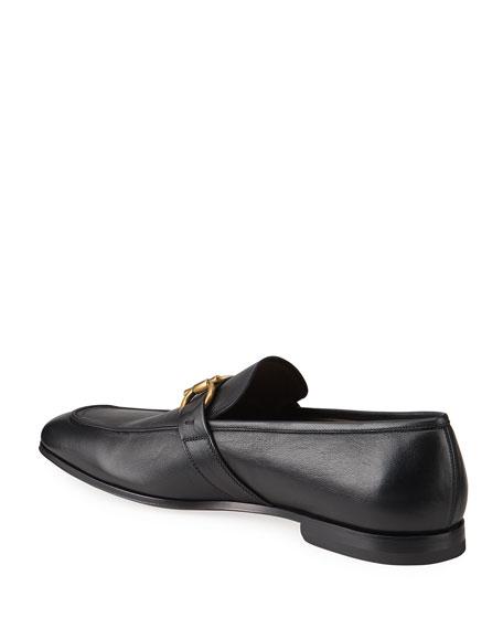Salvatore Ferragamo Men's Sherman Gancini Leather Loafers