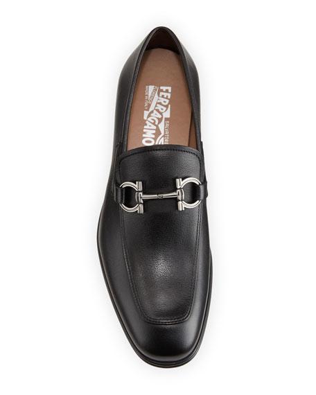 Salvatore Ferragamo Men's Scarlet Gancini-Bit Leather Loafers