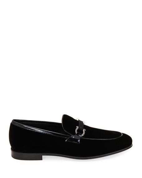 Salvatore Ferragamo Men's Seral Velvet Loafers