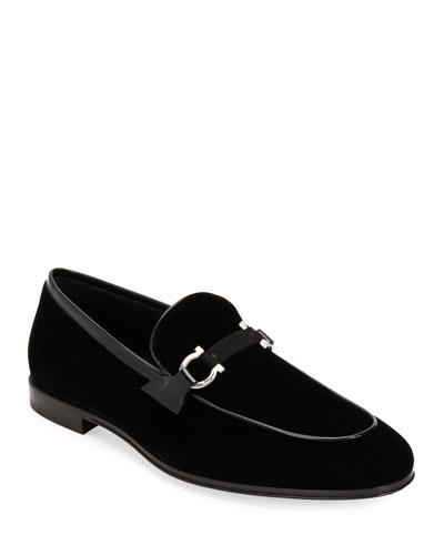 Men's Seral Velvet Loafers