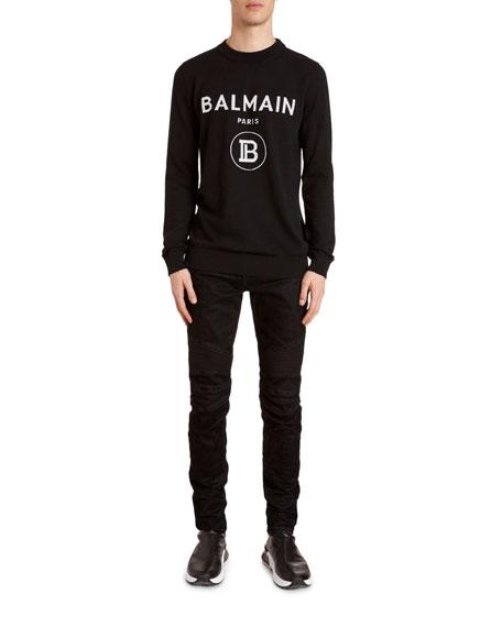 Balmain Men's Logo Crewneck Sweater