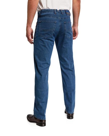Stefano Ricci Men's Light-Wash Denim Jeans
