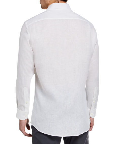 Ermenegildo Zegna Men's Solid Linen Sport Shirt