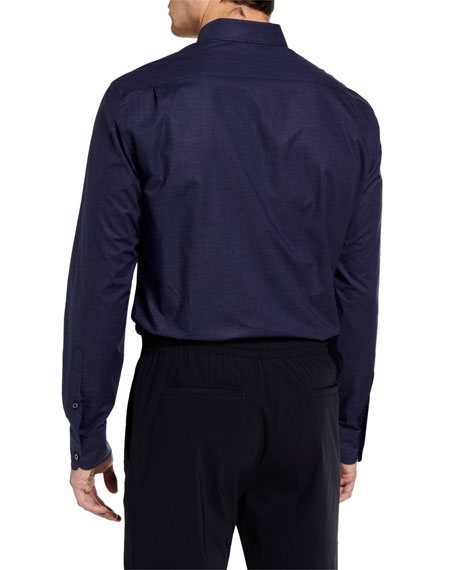 Ermenegildo Zegna Men's Chambray Sport Shirt