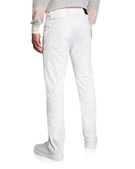 Ermenegildo Zegna Men's 5-Pocket Stretch-Twill Pants