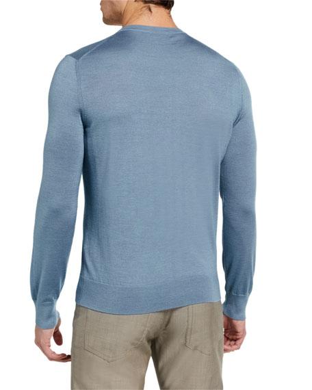 Ermenegildo Zegna Men's Solid Cashmere-Silk Sweater