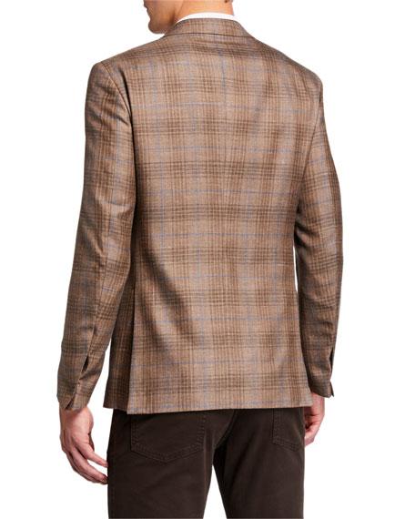 Ermenegildo Zegna Men's Cashmere Plaid Two-Button Jacket