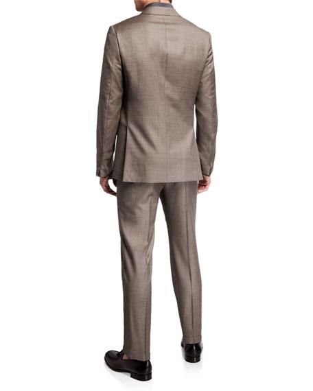Ermenegildo Zegna Men's Sharkskin Wool Two-Piece Suit