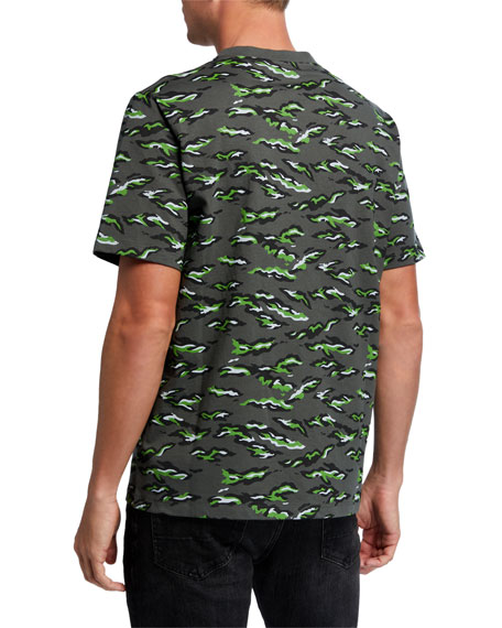 MCM Men's Pop Rabbit Camo Embroidered-Logo T-Shirt
