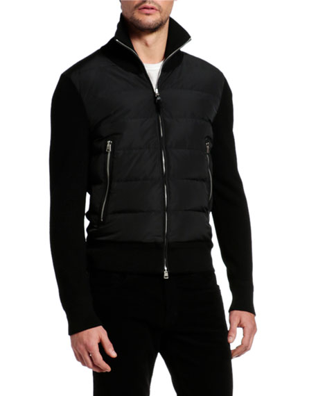 Image 2 of 4: TOM FORD Men's Wool-Trim Puffer Jacket