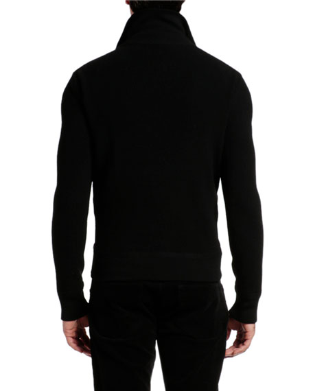 Image 4 of 4: TOM FORD Men's Wool-Trim Puffer Jacket