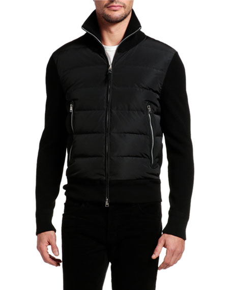 Image 1 of 4: TOM FORD Men's Wool-Trim Puffer Jacket
