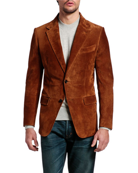 TOM FORD Men's Suede Blazer Jacket