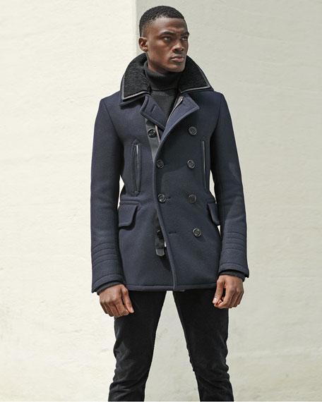 TOM FORD Men's Japanese Melton Wool Pea Coat