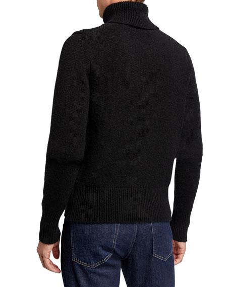 TOM FORD Men's Solid Cashmere-Blend Turtleneck Sweater