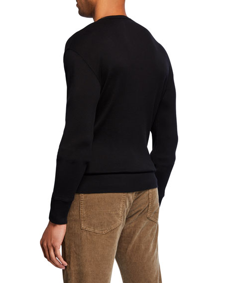 TOM FORD Men's Long-Sleeve Cotton Henley Shirt