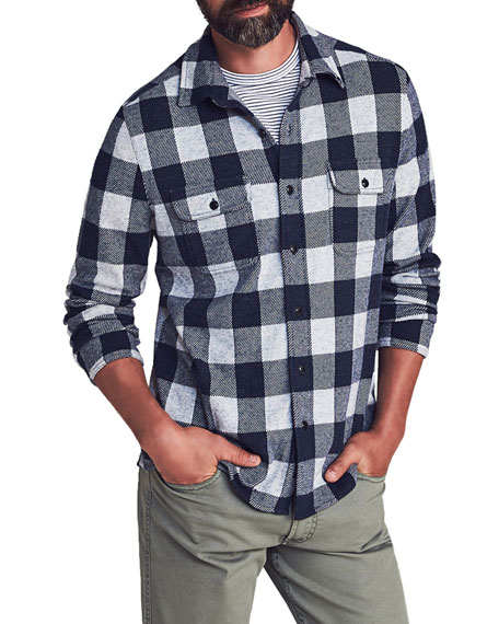 Faherty Men's Legend Check Sweater Shirt