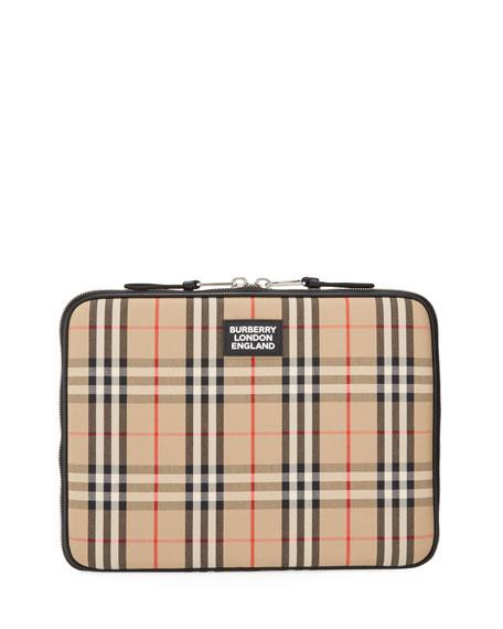 """Burberry Men's Signature Vintage Check Laptop Case (13"""")"""