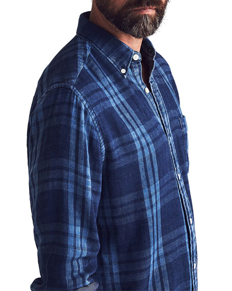 Faherty Men's Pacific Double-Cloth Sport Shirt