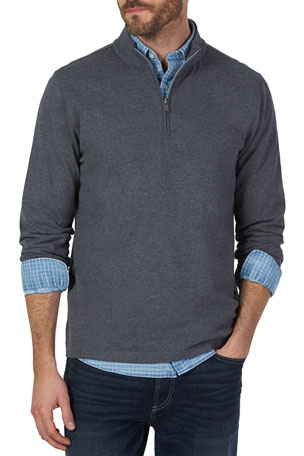 Faherty Men's Suffolk Quarter-Zip Sweater
