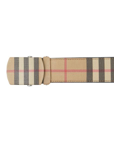 Burberry Men's Vintage Check E-Canvas Belt