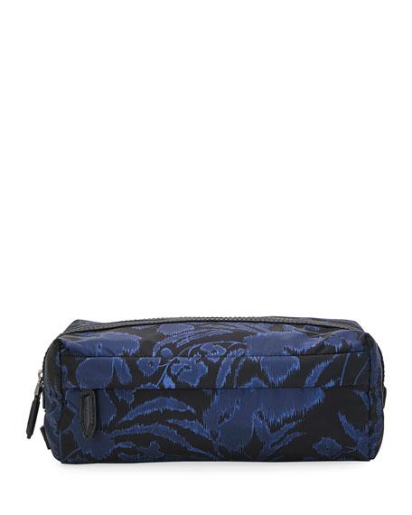 Salvatore Ferragamo Men's Floral-Print Toiletry Bag