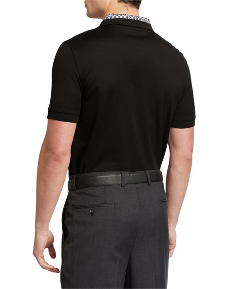 Salvatore Ferragamo Men's Gancini-Collar Polo Shirt