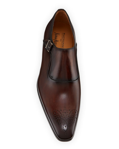 Magnanni for Neiman Marcus Men's Reset Single-Monk Leather Shoes
