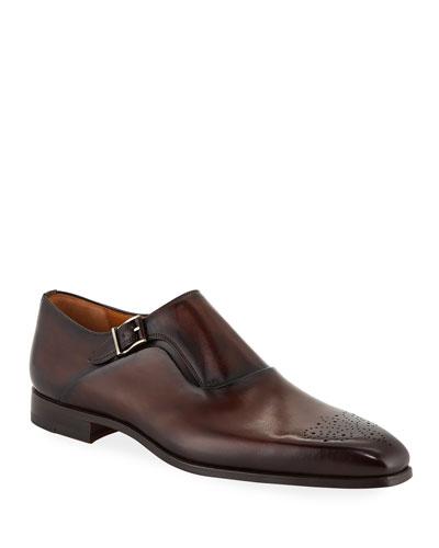 Men's Reset Single-Monk Leather Shoes