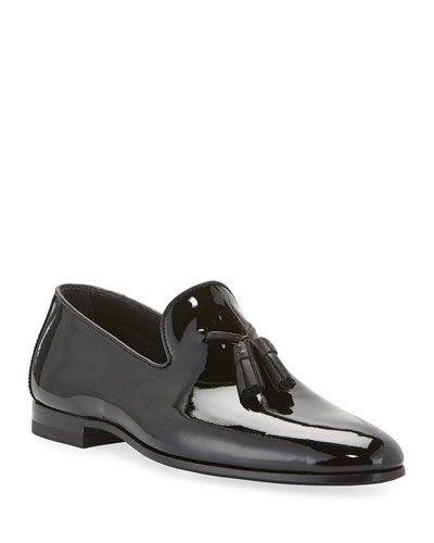Men's Patent Leather Formal Tassel Loafers