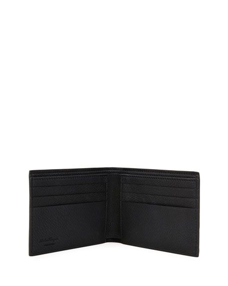 Salvatore Ferragamo Men's Gancini-Print Leather Wallet