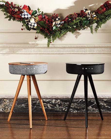 TRNDLabs Men's Smart Table with Wireless Charger & Speaker