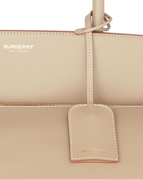 Burberry Men's XL Society Leather Tote Bag