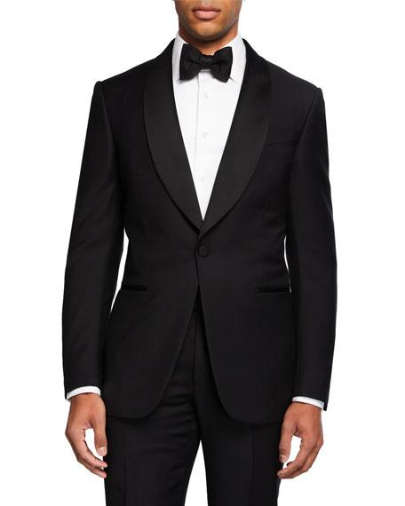 Ermenegildo Zegna Men's Shawl-Collar Two-Piece Wool Tuxedo