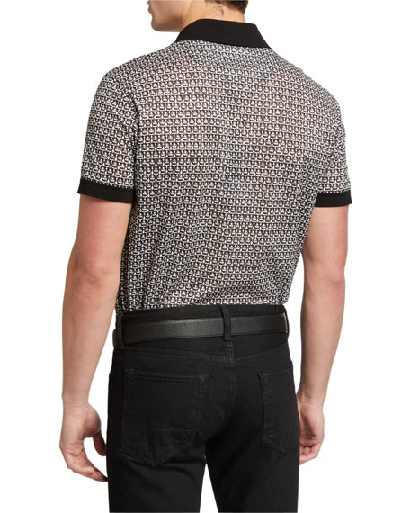 Salvatore Ferragamo Men's Gancini Polo Shirt