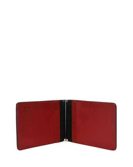 Salvatore Ferragamo Men's Leather Card Case w/ Brass Hardware