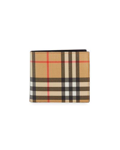 Men's Ronan Vintage Check Bi-Fold Wallet