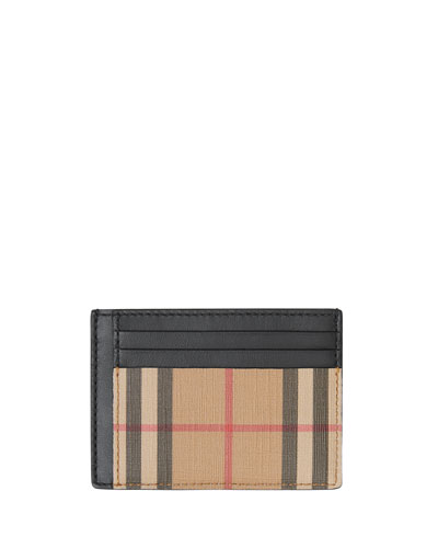 Men's Chase Vintage Check Card Case with Money Clip