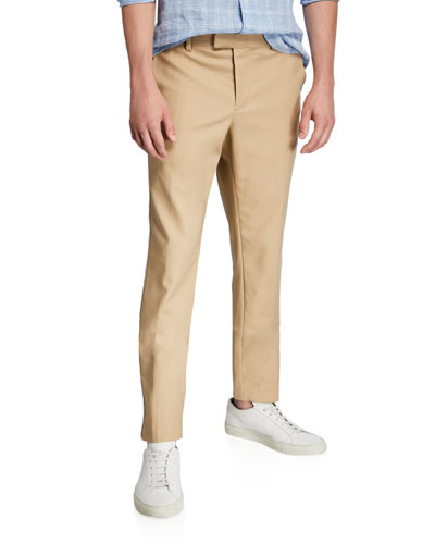 Men's Hybrid Double-Face Cotton Pants w/ Side Stripes