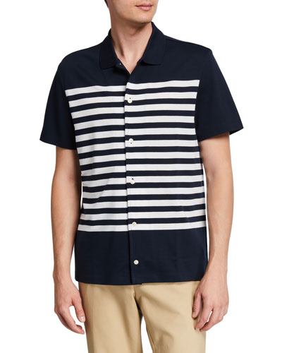 Men's Striped Short-Sleeve Sport Shirt