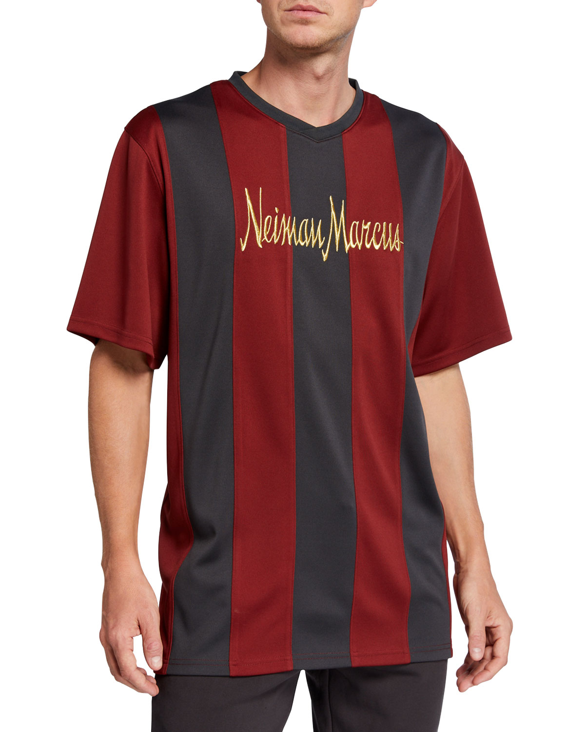Neiman Marcus - Produced by Staple Men's Retro Pique Soccer Jersey Shirt