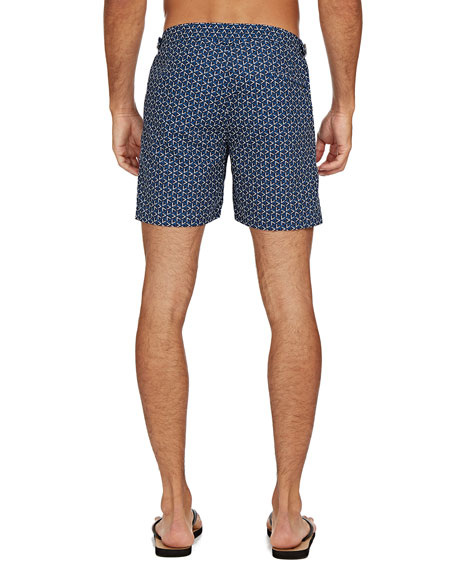 Image 3 of 3: Orlebar Brown Men's Bulldog Garda-Print Swim Trunks