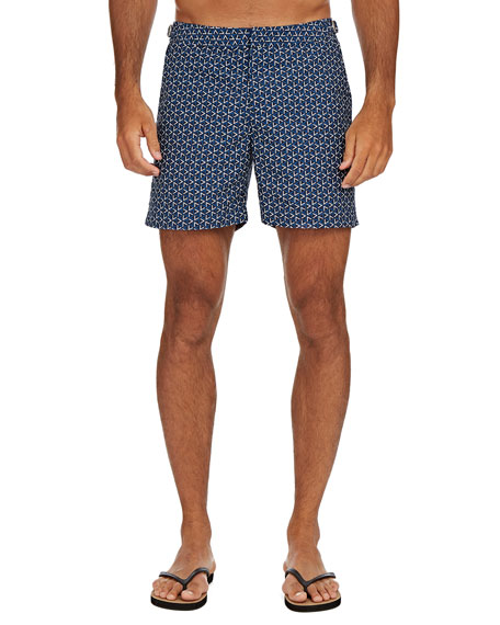 Image 1 of 3: Orlebar Brown Men's Bulldog Garda-Print Swim Trunks