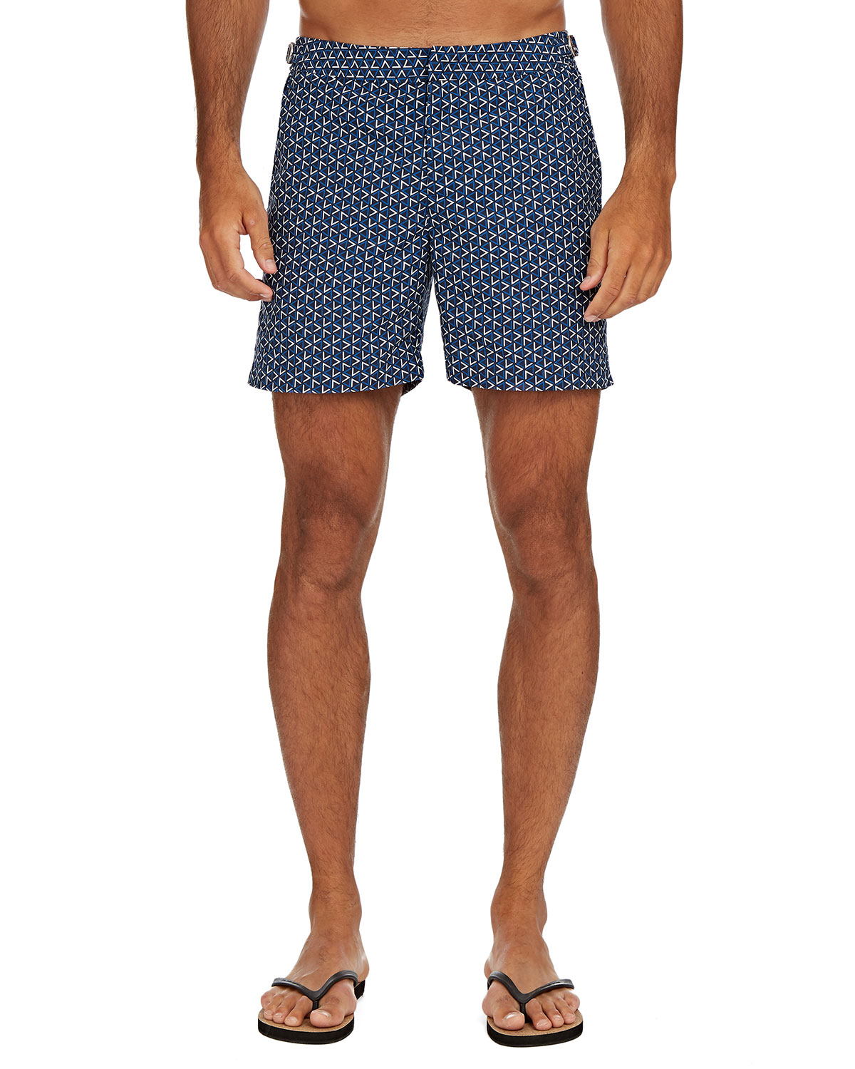 Orlebar Brown Men's Bulldog Garda-Print Swim Trunks