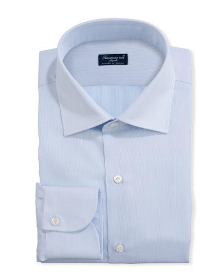 Finamore Men's Cotton Pique Formal Tuxedo Shirt