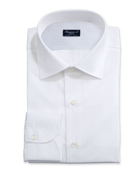Image 1 of 2: Finamore Men's Solid Bib-Front Tuxedo Shirt