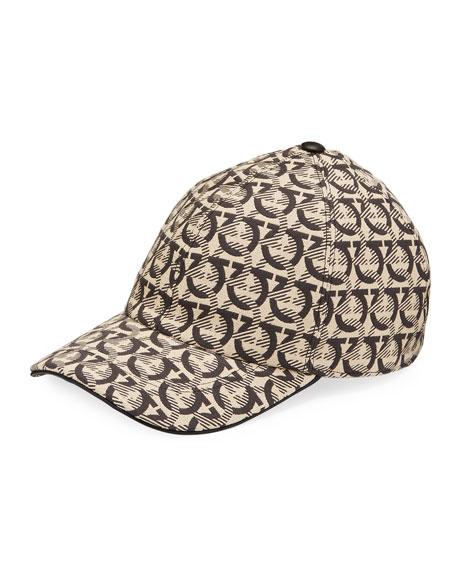 Salvatore Ferragamo Men's Gancini Canvas Baseball Hat