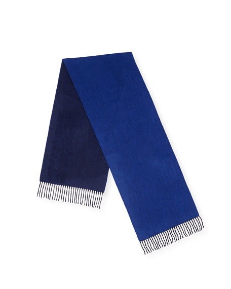 Begg & Co Men's Arran Solid Fringe Scarf