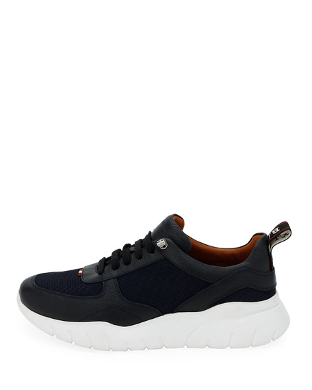 Bally Men's Biggy Mesh & Leather Chunky Running Sneakers