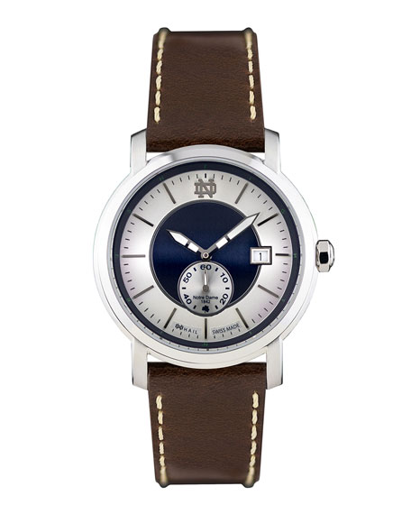 HAIL Brand Men's Hail Notre Dame Fighting Irish Steel IP Watch